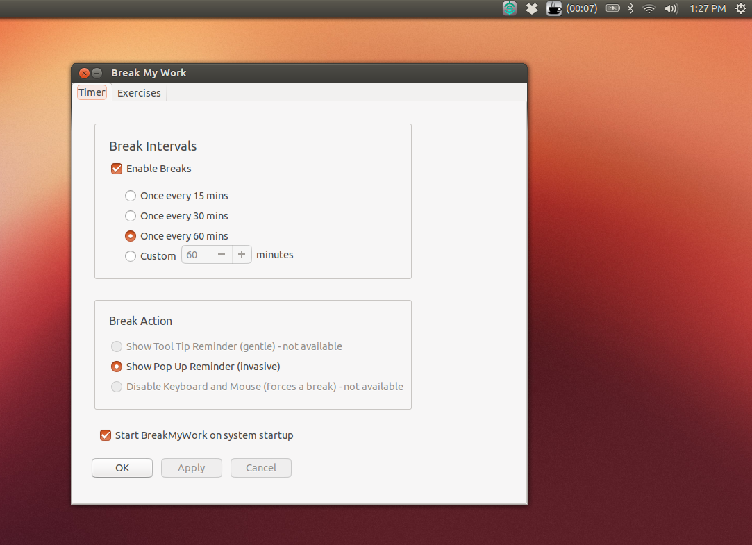 break my work ubuntu app screenshot 1
