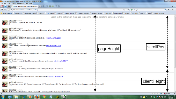 diagram explaining various heights within a webpage